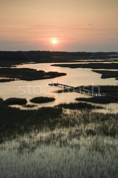 Marsh with pier. Stock photo © iofoto