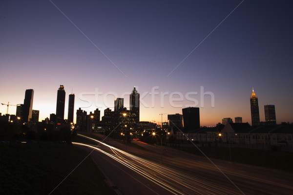 Nightscape of Atlanta, Georgia. Stock photo © iofoto