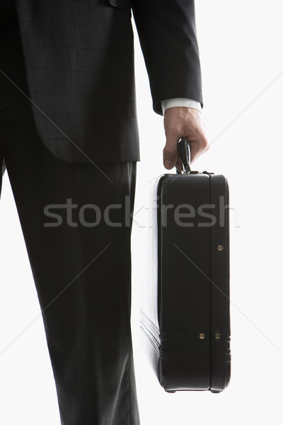 Businessman holding briefcase. Stock photo © iofoto