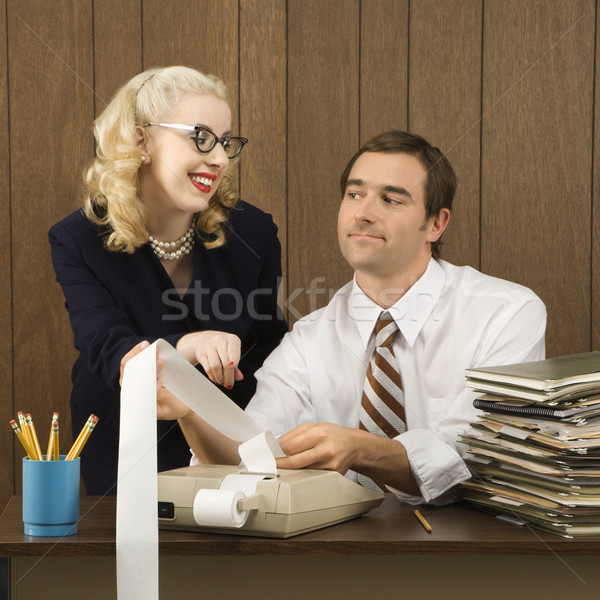 Man and woman working. Stock photo © iofoto