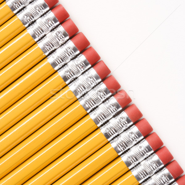 Diagonal row of pencils. Stock photo © iofoto