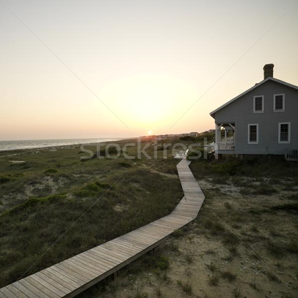 Beach house лысые голову острове Сток-фото © iofoto