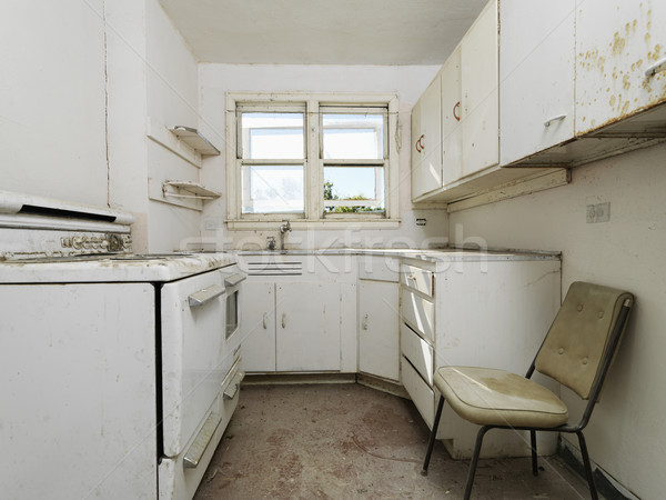 Empty dirty kitchen. Stock photo © iofoto