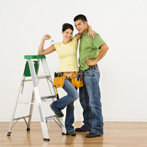 Couple remodeling home. Stock photo © iofoto