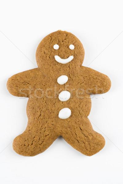 Mézeskalács ember süti boldog szín férfi édesség Stock fotó © iofoto