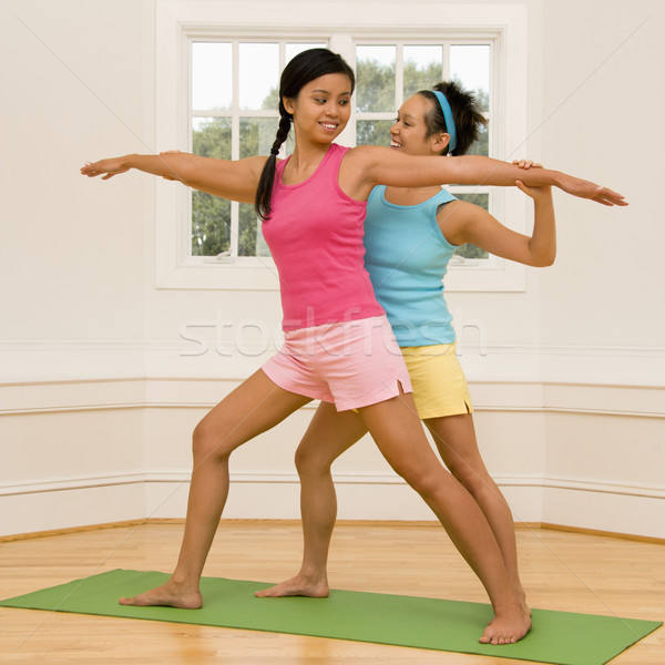 Women in yoga class Stock photo © iofoto
