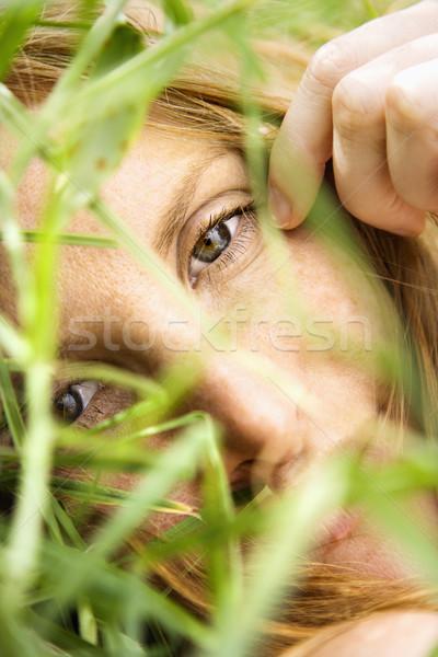 Female portrait up close. Stock photo © iofoto