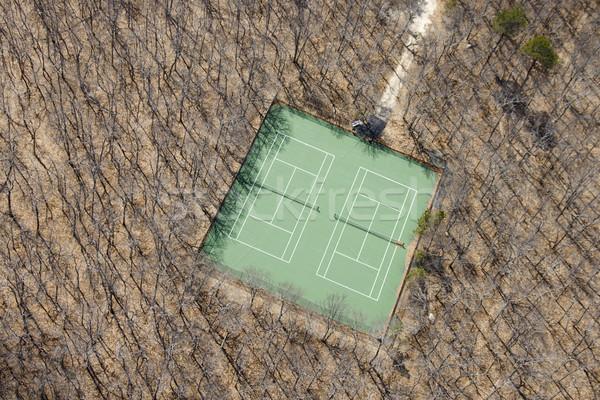 Quadra de tênis nu olho esportes cor Foto stock © iofoto