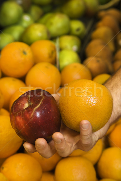 Main fruits Homme Photo stock © iofoto