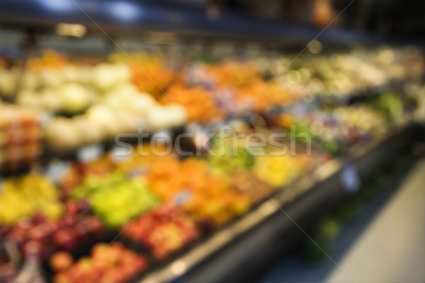 Stock photo: Produce at grocery store.