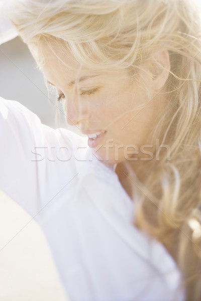 Zdjęcia stock: Pretty · woman · portret · miękkie · świetle · głowie · ramię