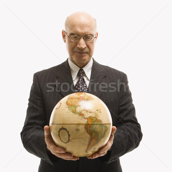 Biznesmen świecie zarówno Zdjęcia stock © iofoto