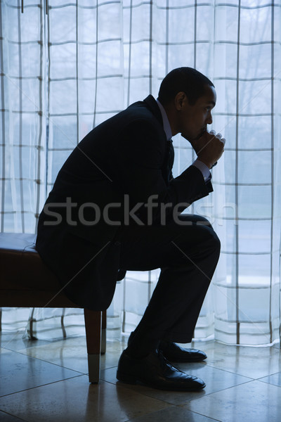 Businessman Thinking Stock photo © iofoto