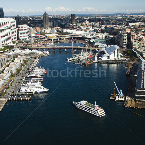 Haven Australië luchtfoto schepen boten Stockfoto © iofoto