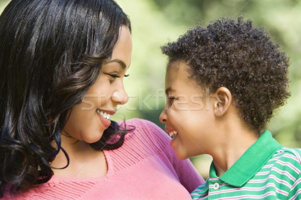 Feliz madre hijo sonriendo familia Foto stock © iofoto