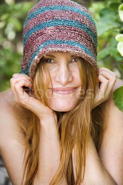 Portret pretty woman dość Zdjęcia stock © iofoto