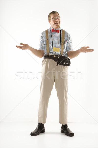 Man shrugging shoulders. Stock photo © iofoto