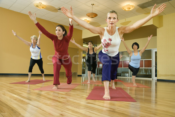 Women in yoga class. Stock photo © iofoto