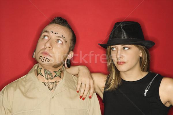 Adult male and teen girl. Stock photo © iofoto