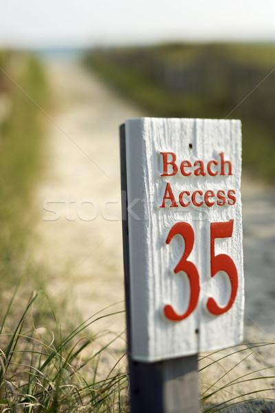 Beach access sign. Stock photo © iofoto