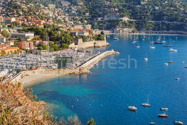 表示 モナコ 多くの 夏 海岸線 建物 ストックフォト © Ionia