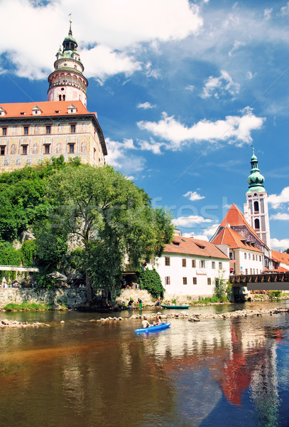 Old city in Cesky Krumlov Stock photo © Ionia