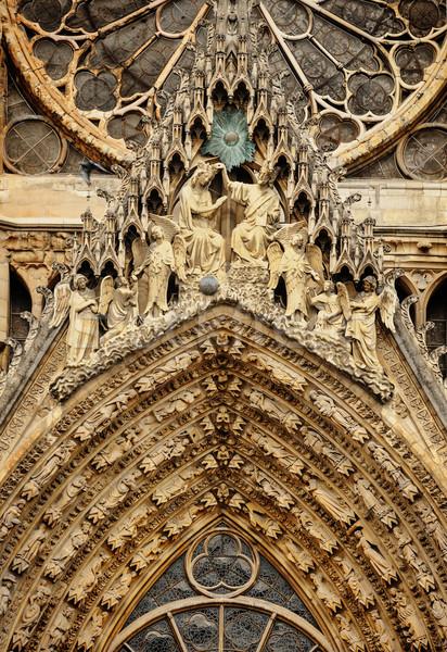 Katedral kilise mimari heykel Avrupa tarih Stok fotoğraf © Ionia