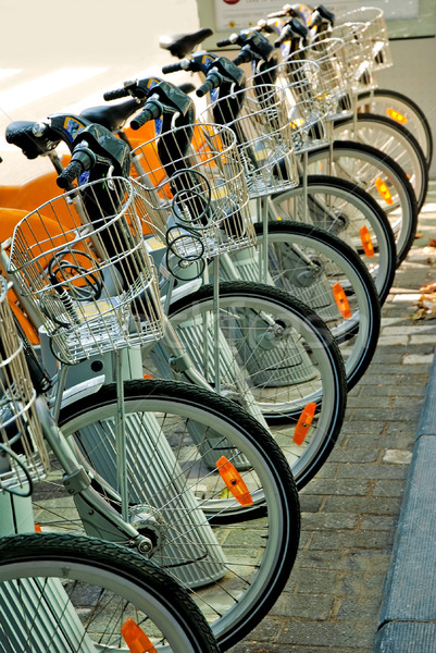 Bicycles Parked in the city center Brussels Stock photo © Ionia
