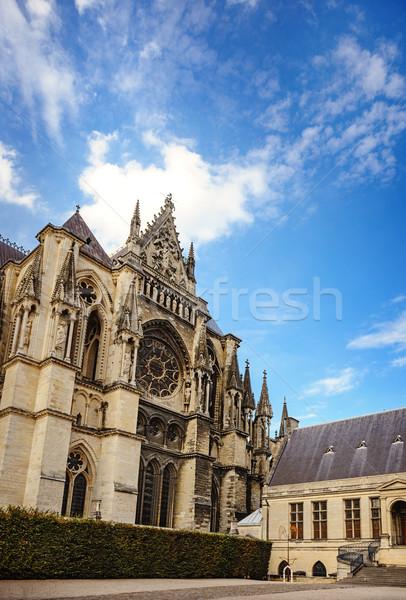 Gotik katedral şampanya bölge Fransa kilise Stok fotoğraf © Ionia