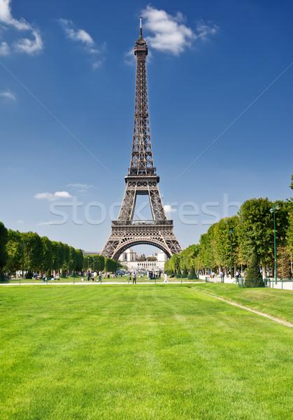 Wieża Eiffla Paryż niebo miasta budowy miejskich Zdjęcia stock © Ionia
