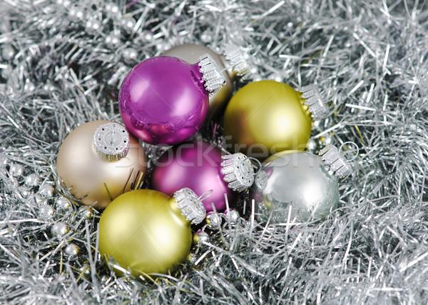 Рождества украшение Focus мяча стекла Сток-фото © Ionia