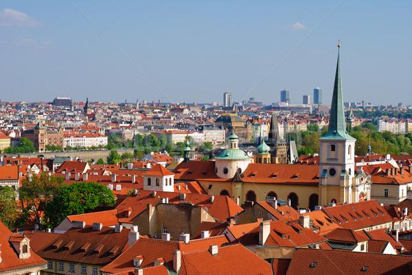 Cityscape Prag bahar şehir sokak mimari Stok fotoğraf © Ionia
