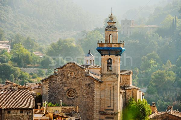 Panoramik görmek şehir manzara kilise seyahat Stok fotoğraf © Ionia
