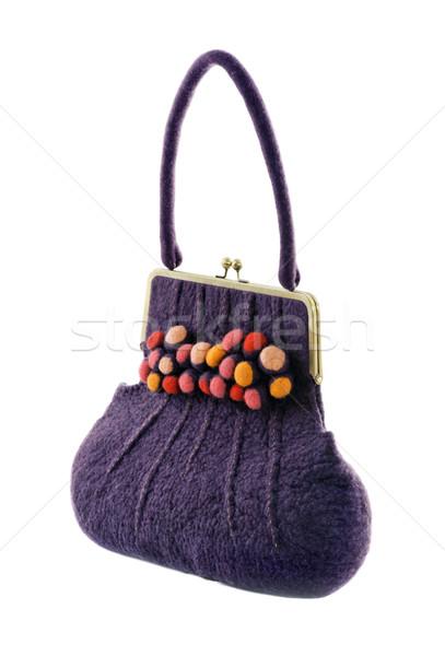 çanta beyaz kumaş alışveriş hediye pembe Stok fotoğraf © Ionia