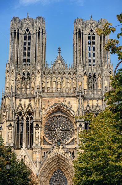 大聖堂 教会 青 石 アーキテクチャ 像 ストックフォト © Ionia
