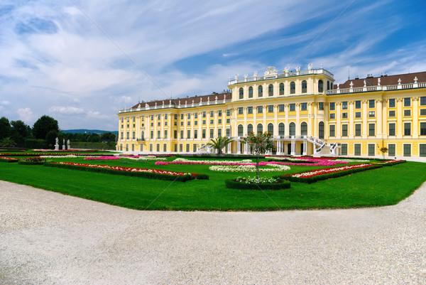 Saray Viyana Avusturya bahçe seyahat binalar Stok fotoğraf © Ionia