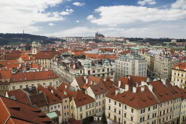 Prag şehir sokak evler çatı Stok fotoğraf © Ionia