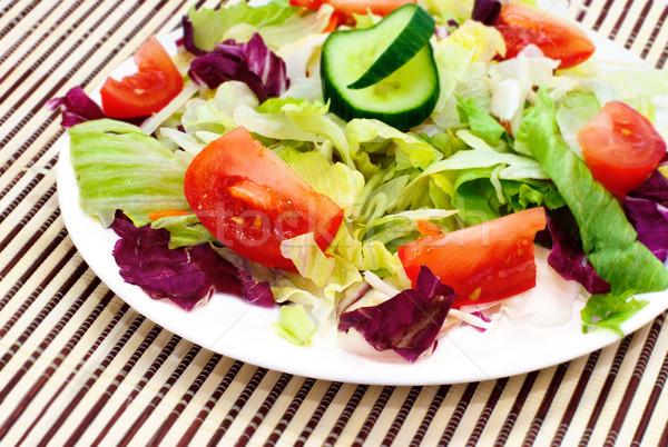 Taze sebze salata gıda sağlık restoran uzay Stok fotoğraf © Ionia