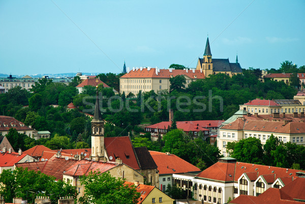 Прага лет небе здании лес пейзаж Сток-фото © Ionia