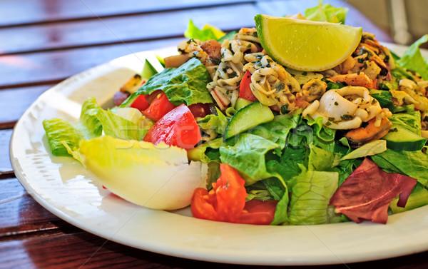 Deniz ürünleri salata karides yengeç gıda sağlık Stok fotoğraf © Ionia