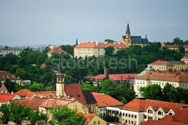 Prag şehir ışık mavi seyahat kentsel Stok fotoğraf © Ionia