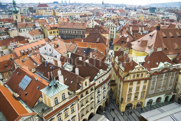 старые улиц Прага город улице домах Сток-фото © Ionia