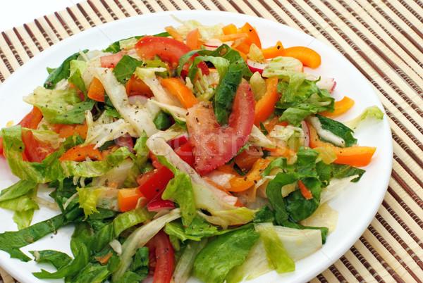 Yaz salata bahçe restoran grup kırmızı Stok fotoğraf © Ionia