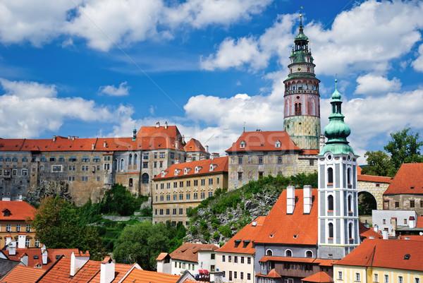 панорамный мнение лет Панорама Чешская республика Церкви Сток-фото © Ionia