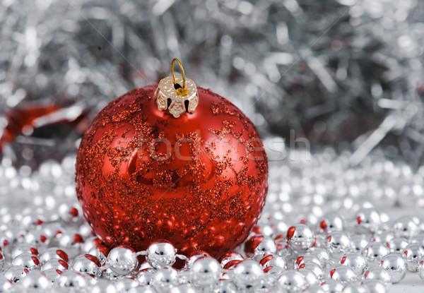 Noel dekorasyon odak ilk top cam Stok fotoğraf © Ionia