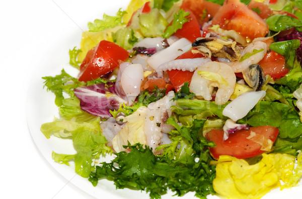 Owoce morza Sałatka Krab żywności zdrowia Zdjęcia stock © Ionia