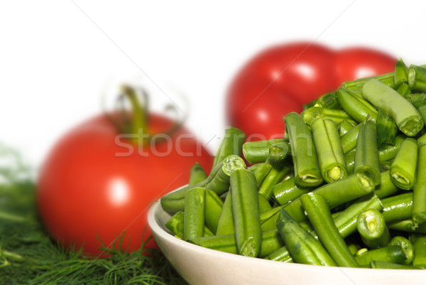 Taze sebze odak fasulye doğa sağlık yeşil Stok fotoğraf © Ionia