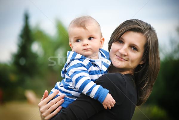 матери сын парка любви трава счастливым Сток-фото © Ionia