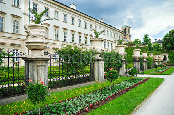 дворец садов Австрия трава природы лет Сток-фото © Ionia