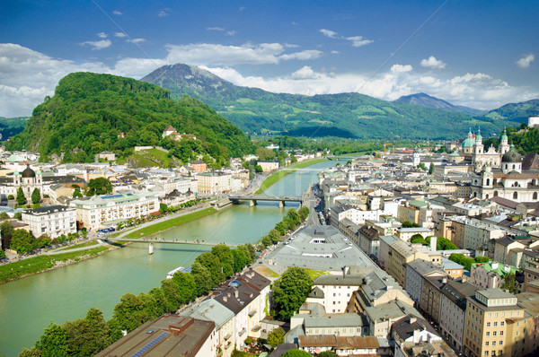 Panorama of Salzburg. Austria  Stock photo © Ionia